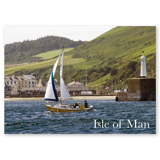 Isle of Man : Yachting off Peel - Sold in pack (100 postcards)