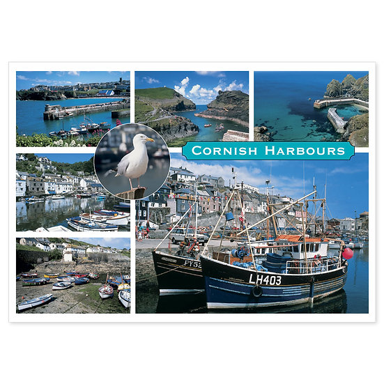 Cornish Harbours - Sold in pack (100 postcards)