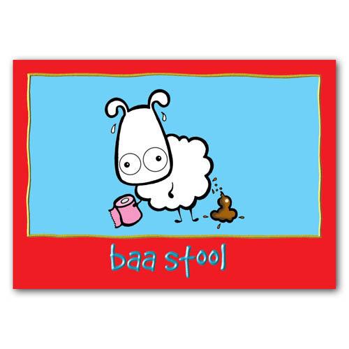 Baa - Baa Stool - Sold in pack (100 postcards)