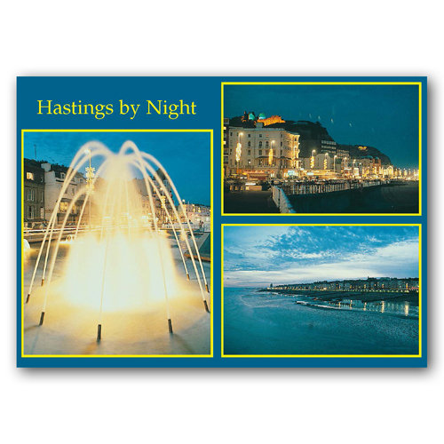 Hastings By Night - Sold in pack (100 postcards)