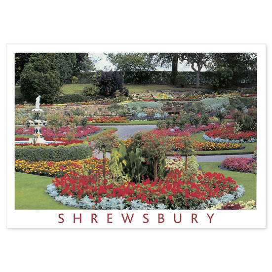Shrewsbury The Dingle - Sold in pack (100 postcards)