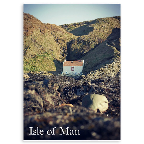 Isle of Man : Fisherman's Hut - Sold in pack (100 postcards)