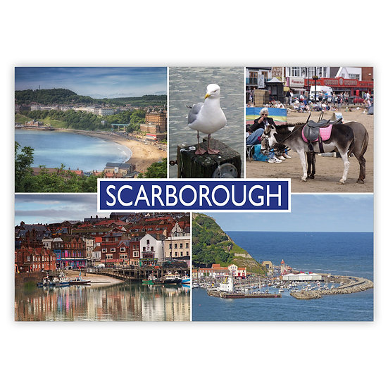 Scarborough 5 View Comp - Sold in pack (100 postcards)