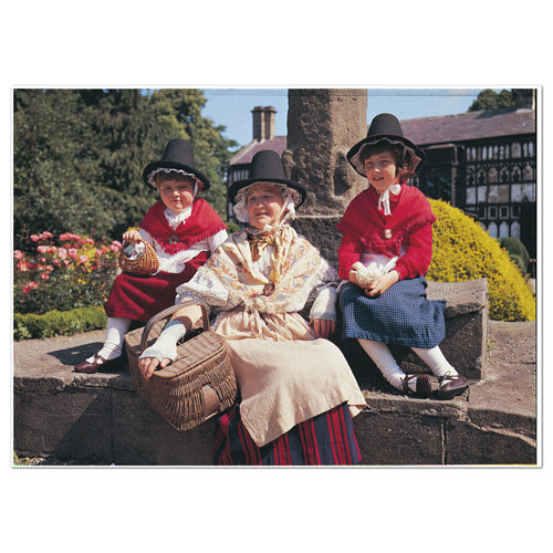 Wales Welsh National Costume - Sold in pack (100 postcards)