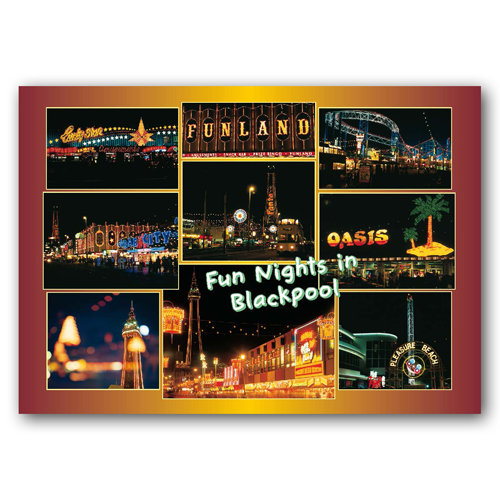 Blackpool Fun Nights in - Sold in pack (100 postcards)