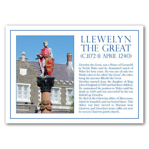 Conwy Llywelyn The Great - Sold in pack (100 postcards)