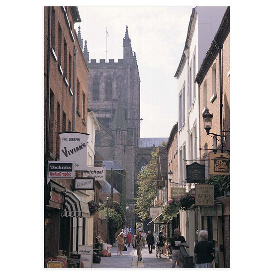 Hereford Cathedral and Church Street - Sold in pack (100 postcards)