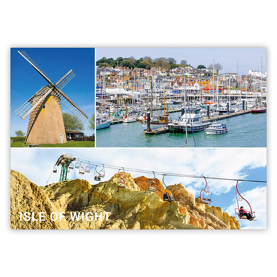 Isle Of Wight 3 View Comp - Sold in pack (100 postcards)