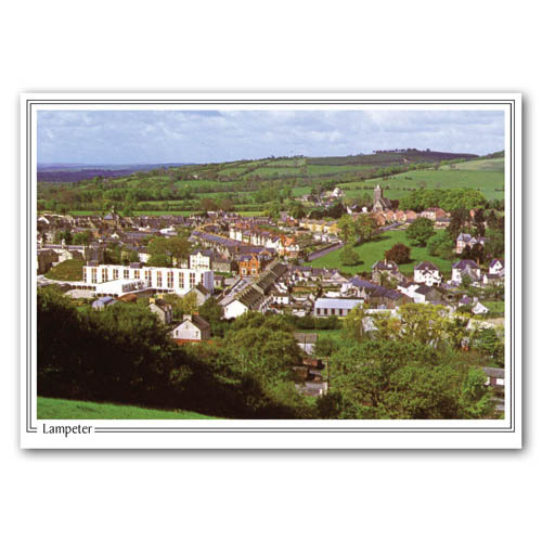 Lampeter From The Hills - Sold in pack (100 postcards)