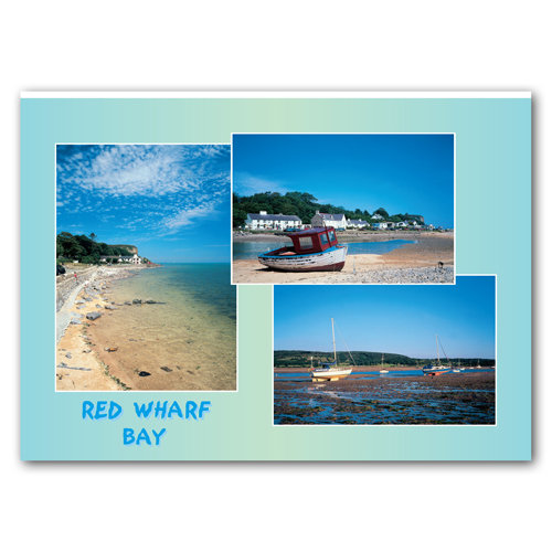 Red Wharf Bay - Sold in pack (100 postcards)