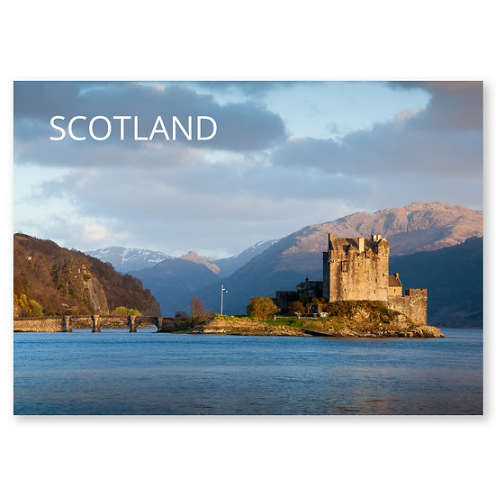 Eilean Donan Castle, Scotland - Sold in pack (100 postcards)