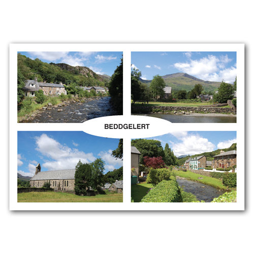 Beddgelert 4 View Comp - Sold in pack (100 postcards)
