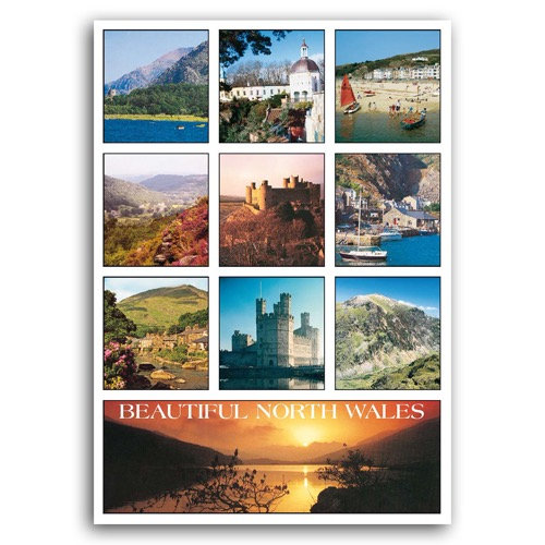 Wales North Beautiful Comp - Sold in pack (100 postcards)