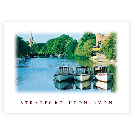 Stratford-Upon-Avon River - Sold in pack (100 postcards)