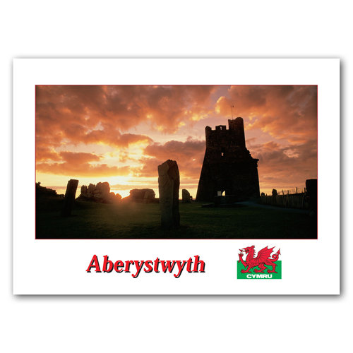 Aberystwyth Sunset - Sold in pack (100 postcards)