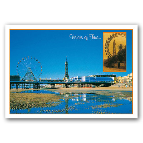 Blackpool Visions of Time - Sold in pack (100 postcards)