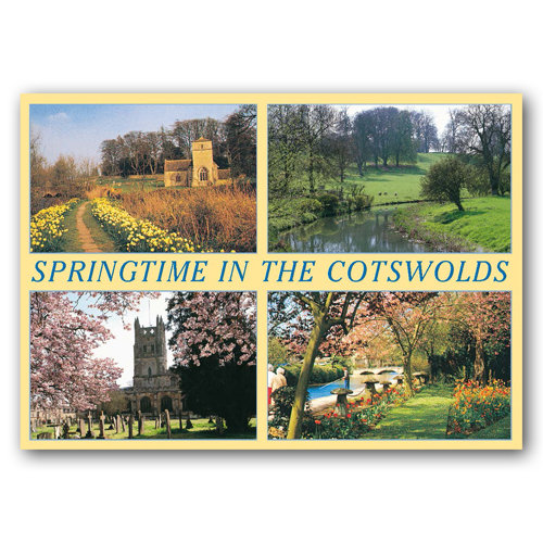 Cotswolds Springtime - Sold in pack (100 postcards)