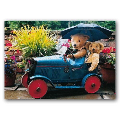 Teddy Bears Umbrella - Sold in pack (100 postcards)