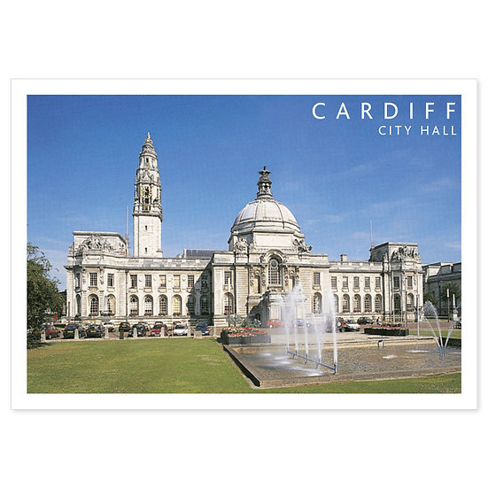 Cardiff City Hall - Sold in pack (100 postcards)