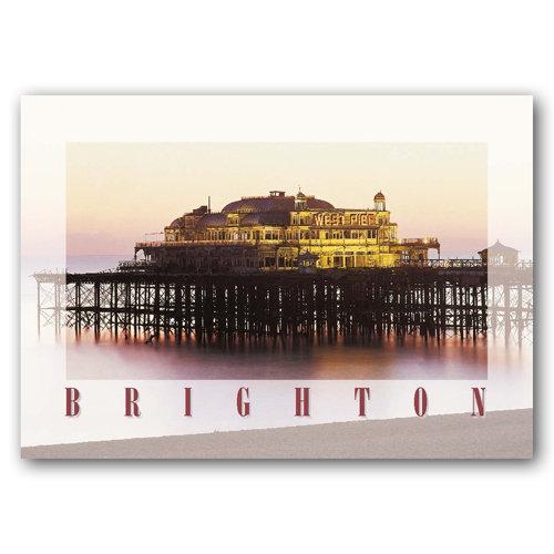 Brighton West Pier - Sold in pack (100 postcards)