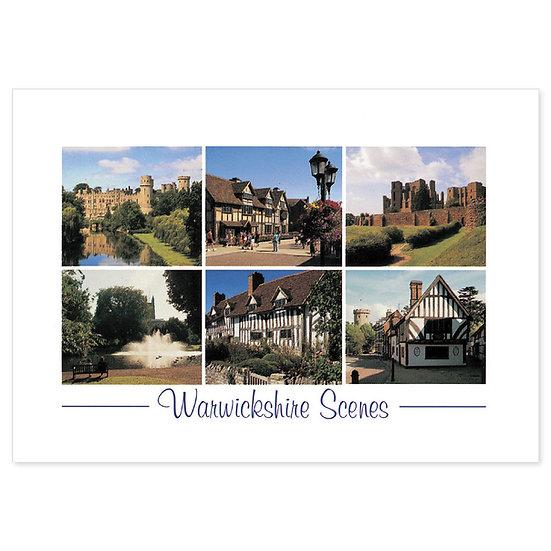 Warwickshire Scenes - Sold in pack (100 postcards)