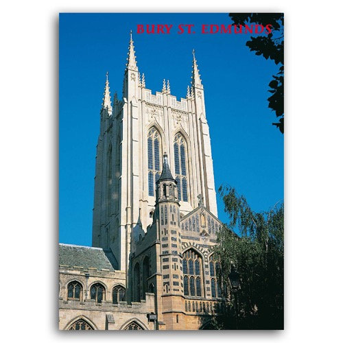 Bury St Edmunds The Cathedral - Sold in pack (100 postcards)