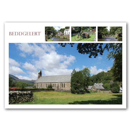Beddgelert 4 View Comp - Sold in pack (100 postcards)