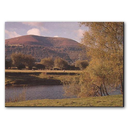 Abergavenny Blorenge River Usk - Sold in pack (100 postcards)