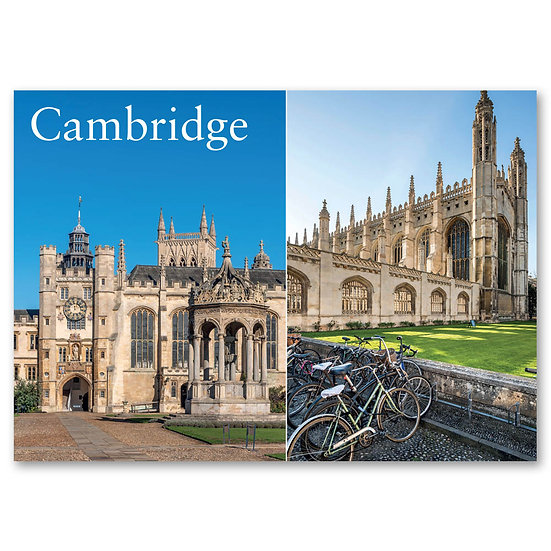 Cambridge, Trinity College and King's College - Sold in pack (100 postcards)