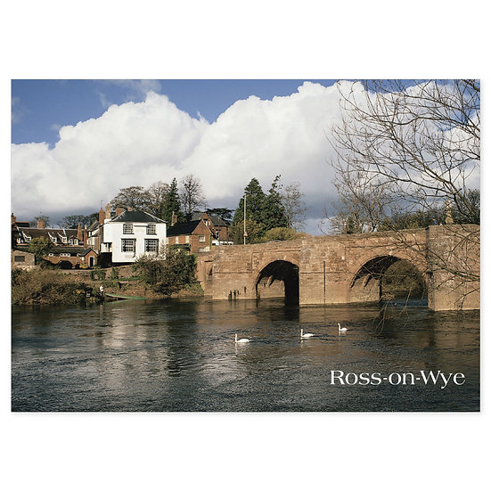 Ross on Wye Bridge - Sold in pack (100 postcards)