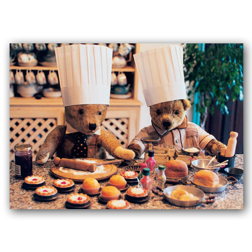 Teddy Bears Cookery Lesson - Sold in pack (100 postcards)