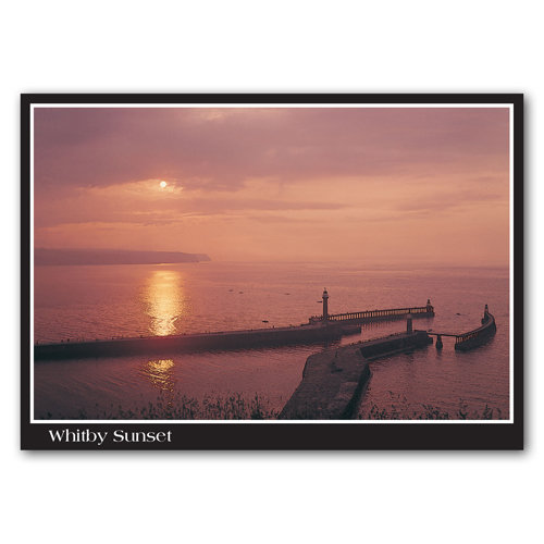 Whitby Sunset - Sold in pack (100 postcards)