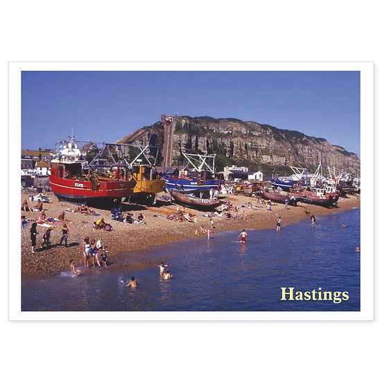 Hastings Fishing Boats - Sold in pack (100 postcards)