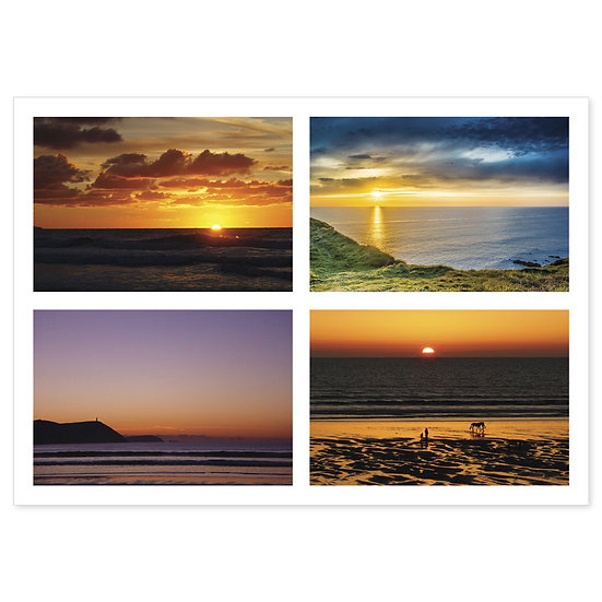 Cornish Sunsets - Sold in pack (100 postcards)