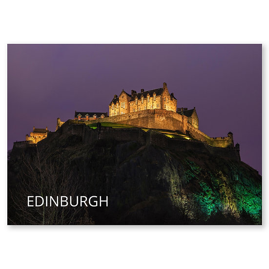 Edinburgh Castle The Magnificent - Sold in pack (100 postcards)