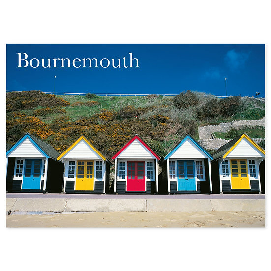 Bournemouth Beach Huts - Sold in pack (100 postcards)