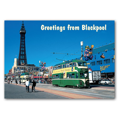 Blackpool Greeting From - Sold in pack (100 postcards)
