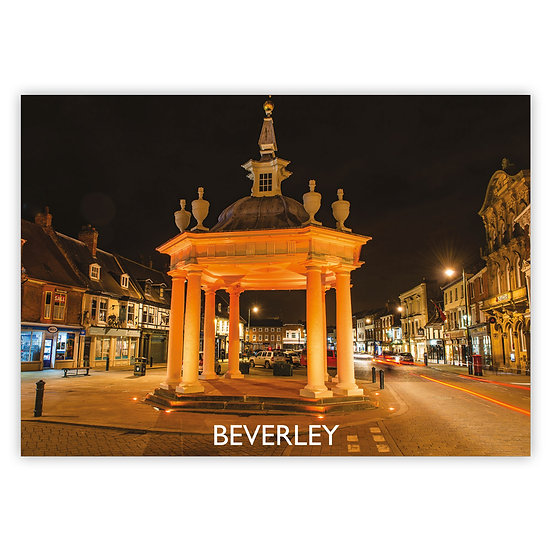 Beverley Market Square Night - Sold in pack (100 postcards)