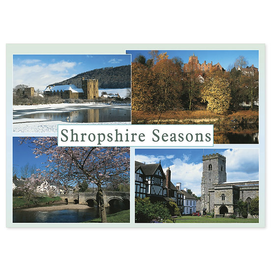 Shropshire Seasons Of - Sold in pack (100 postcards)