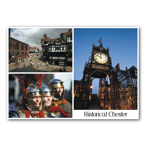 Chester Historic  3 View - Sold in pack (100 postcards)