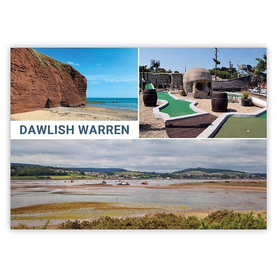 Dawlish Warren 3 View Comp - Sold in pack (100 postcards)