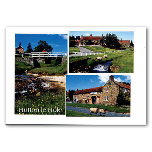 Hutton Le Hole 3 View Comp - Sold in pack (100 postcards)