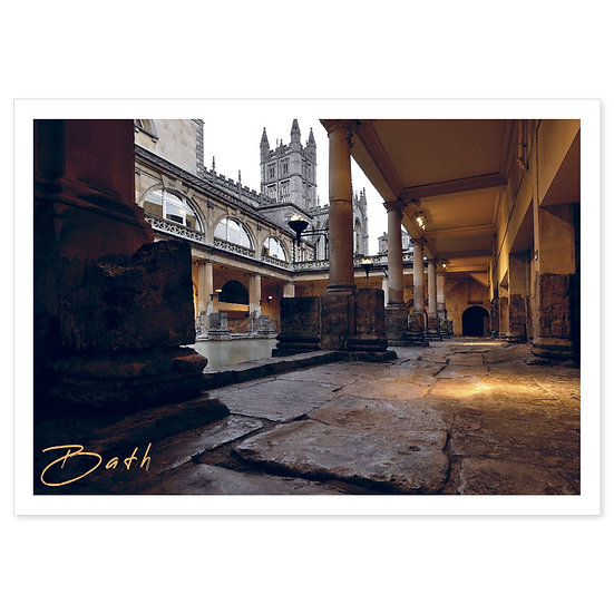Bath Abbey from Roman Baths - Sold in pack (100 postcards)