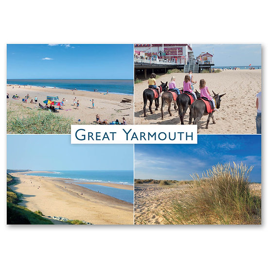 Great Yarmouth, 4 view composite - Sold in pack (100 postcards)
