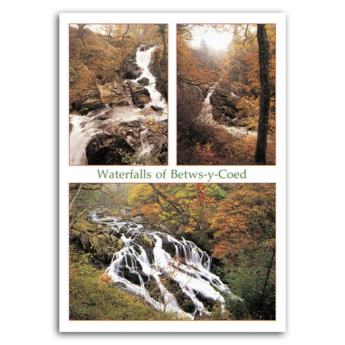Betws-Y-Coed Waterfalls Comp - Sold in pack (100 postcards)