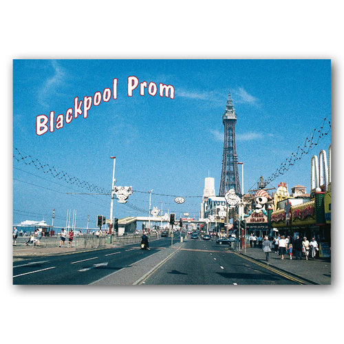 Blackpool Prom - Sold in pack (100 postcards)
