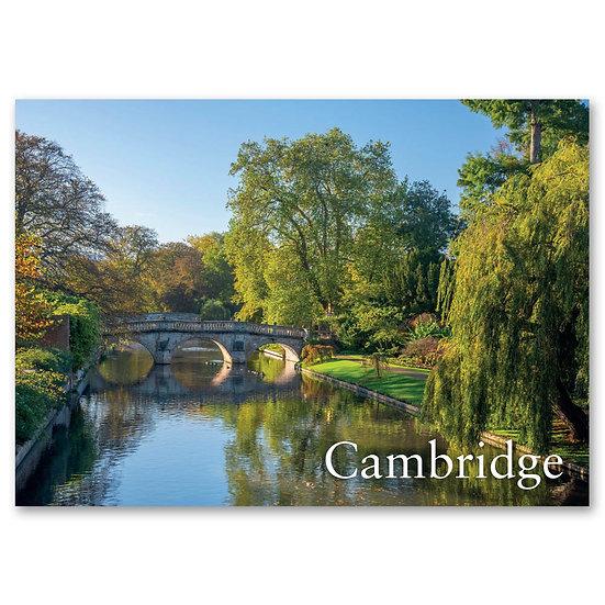 Cambridge, Clare Bridge over River Cam - Sold in pack (100 postcards)