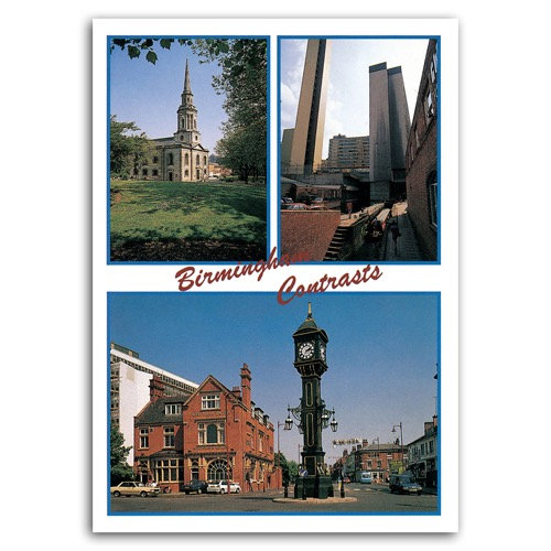 Birmingham Contrasts Comp - Sold in pack (100 postcards)