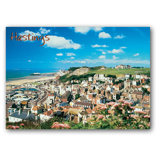 Hastings From East Hill - Sold in pack (100 postcards)