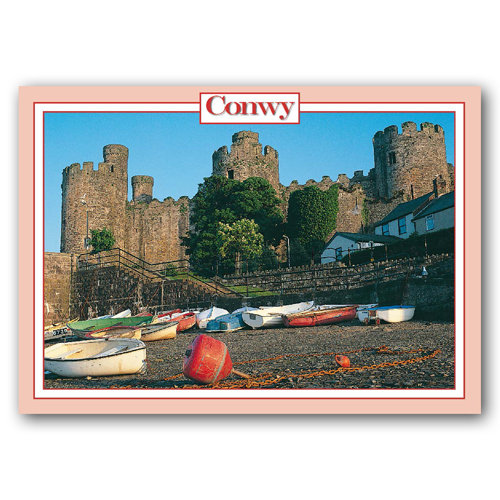 Conwy Castle - Sold in pack (100 postcards)